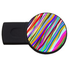 Multi Color Tangled Ribbons Background Wallpaper Usb Flash Drive Round (2 Gb) by Amaryn4rt