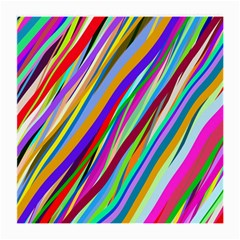 Multi Color Tangled Ribbons Background Wallpaper Medium Glasses Cloth (2 Side) by Amaryn4rt