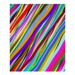 Multi Color Tangled Ribbons Background Wallpaper Shower Curtain 60  X 72  (medium)  by Amaryn4rt