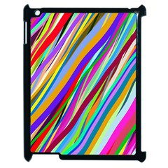 Multi Color Tangled Ribbons Background Wallpaper Apple Ipad 2 Case (black) by Amaryn4rt