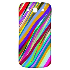 Multi Color Tangled Ribbons Background Wallpaper Samsung Galaxy S3 S Iii Classic Hardshell Back Case by Amaryn4rt