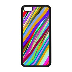 Multi Color Tangled Ribbons Background Wallpaper Apple Iphone 5c Seamless Case (black) by Amaryn4rt