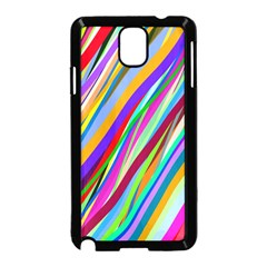 Multi Color Tangled Ribbons Background Wallpaper Samsung Galaxy Note 3 Neo Hardshell Case (black) by Amaryn4rt