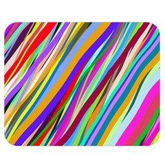 Multi Color Tangled Ribbons Background Wallpaper Double Sided Flano Blanket (medium)  by Amaryn4rt