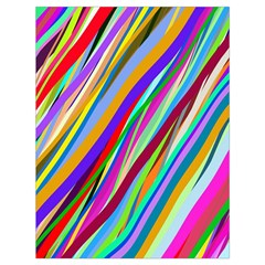 Multi Color Tangled Ribbons Background Wallpaper Drawstring Bag (large) by Amaryn4rt