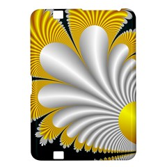 Fractal Gold Palm Tree On Black Background Kindle Fire Hd 8 9  by Amaryn4rt
