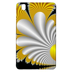 Fractal Gold Palm Tree On Black Background Samsung Galaxy Tab Pro 8 4 Hardshell Case by Amaryn4rt