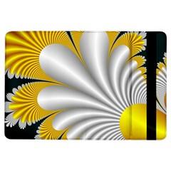 Fractal Gold Palm Tree On Black Background Ipad Air Flip by Amaryn4rt