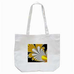 Fractal Gold Palm Tree On Black Background Tote Bag (white) by Amaryn4rt