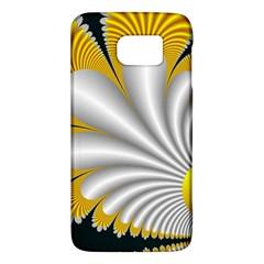 Fractal Gold Palm Tree On Black Background Galaxy S6 by Amaryn4rt