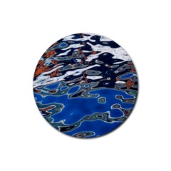 Colorful Reflections In Water Rubber Coaster (round)  by Amaryn4rt