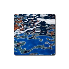 Colorful Reflections In Water Square Magnet by Amaryn4rt