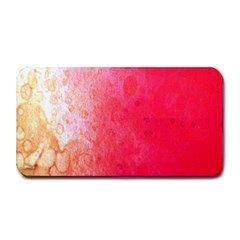 Abstract Red And Gold Ink Blot Gradient Medium Bar Mats by Amaryn4rt