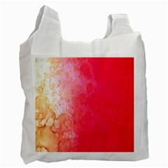 Abstract Red And Gold Ink Blot Gradient Recycle Bag (one Side) by Amaryn4rt