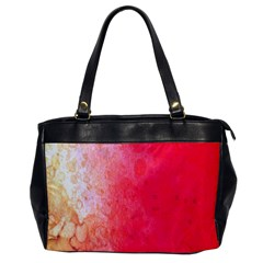 Abstract Red And Gold Ink Blot Gradient Office Handbags by Amaryn4rt