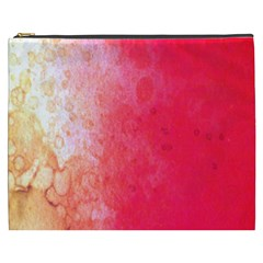 Abstract Red And Gold Ink Blot Gradient Cosmetic Bag (xxxl)  by Amaryn4rt