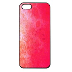 Abstract Red And Gold Ink Blot Gradient Apple Iphone 5 Seamless Case (black) by Amaryn4rt
