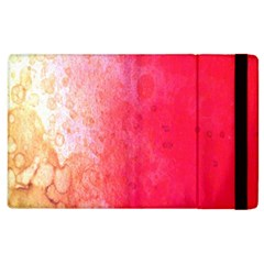 Abstract Red And Gold Ink Blot Gradient Apple Ipad 3/4 Flip Case by Amaryn4rt