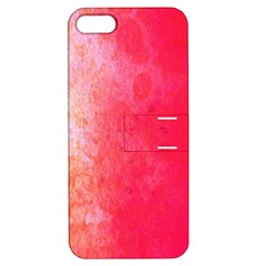 Abstract Red And Gold Ink Blot Gradient Apple Iphone 5 Hardshell Case With Stand by Amaryn4rt