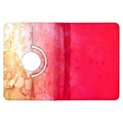 Abstract Red And Gold Ink Blot Gradient Kindle Fire Hdx Flip 360 Case by Amaryn4rt