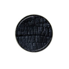 Black Burnt Wood Texture Hat Clip Ball Marker (4 Pack)
