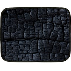 Black Burnt Wood Texture Double Sided Fleece Blanket (mini)  by Amaryn4rt