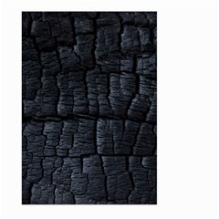 Black Burnt Wood Texture Large Garden Flag (two Sides) by Amaryn4rt