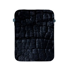 Black Burnt Wood Texture Apple Ipad 2/3/4 Protective Soft Cases by Amaryn4rt