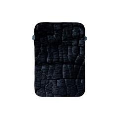 Black Burnt Wood Texture Apple Ipad Mini Protective Soft Cases by Amaryn4rt