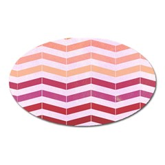 Abstract Vintage Lines Oval Magnet by Amaryn4rt