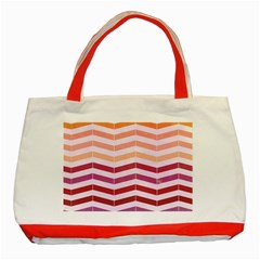 Abstract Vintage Lines Classic Tote Bag (red) by Amaryn4rt