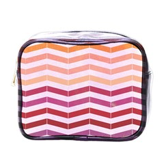 Abstract Vintage Lines Mini Toiletries Bags by Amaryn4rt
