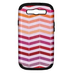 Abstract Vintage Lines Samsung Galaxy S Iii Hardshell Case (pc+silicone) by Amaryn4rt