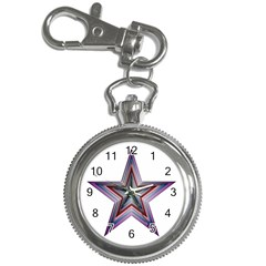 Star Abstract Geometric Art Key Chain Watches by Amaryn4rt
