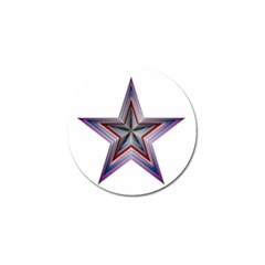 Star Abstract Geometric Art Golf Ball Marker by Amaryn4rt