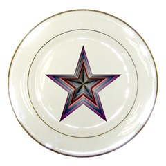 Star Abstract Geometric Art Porcelain Plates by Amaryn4rt