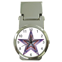 Star Abstract Geometric Art Money Clip Watches by Amaryn4rt