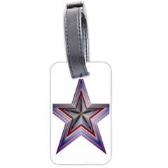 Star Abstract Geometric Art Luggage Tags (one Side)  by Amaryn4rt