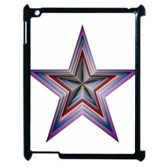 Star Abstract Geometric Art Apple Ipad 2 Case (black) by Amaryn4rt