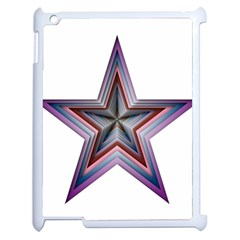 Star Abstract Geometric Art Apple Ipad 2 Case (white) by Amaryn4rt