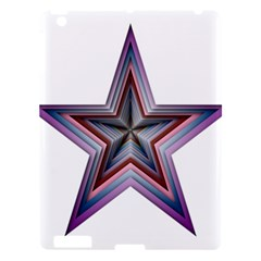 Star Abstract Geometric Art Apple Ipad 3/4 Hardshell Case by Amaryn4rt