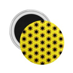 Yellow Fractal In Kaleidoscope 2 25  Magnets by Amaryn4rt