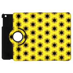 Yellow Fractal In Kaleidoscope Apple Ipad Mini Flip 360 Case by Amaryn4rt