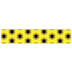 Yellow Fractal In Kaleidoscope Flano Scarf (small) by Amaryn4rt