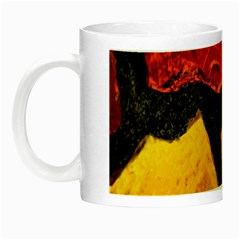 Colorful Glass Mosaic Art And Abstract Wall Background Night Luminous Mugs by Amaryn4rt