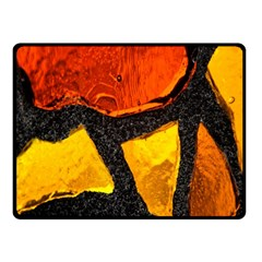 Colorful Glass Mosaic Art And Abstract Wall Background Fleece Blanket (small) by Amaryn4rt