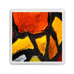 Colorful Glass Mosaic Art And Abstract Wall Background Memory Card Reader (square)  by Amaryn4rt