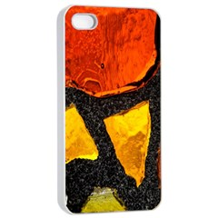 Colorful Glass Mosaic Art And Abstract Wall Background Apple Iphone 4/4s Seamless Case (white) by Amaryn4rt