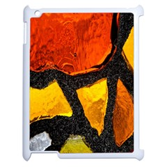 Colorful Glass Mosaic Art And Abstract Wall Background Apple Ipad 2 Case (white) by Amaryn4rt