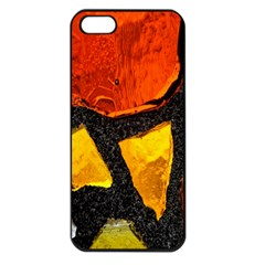 Colorful Glass Mosaic Art And Abstract Wall Background Apple Iphone 5 Seamless Case (black) by Amaryn4rt